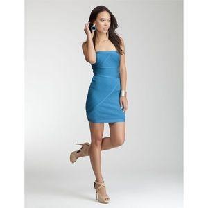NWT Bebe Blue Strapless Bodycon Dress